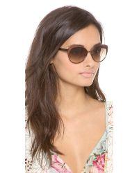 kate spade new york Cassia Sunglasses - Brown/Brown Gradient