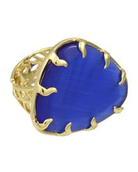 Kendra Scott - Blue Cobalt Cats Eye Ring - Lyst