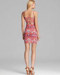 Mara Hoffman Pink Strip Back Cover Up Mini Dress