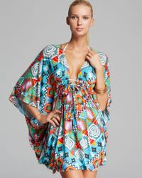Mara Hoffman Multicolor Modal Cover Up Poncho