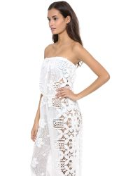 Miguelina White Piper Jumpsuit