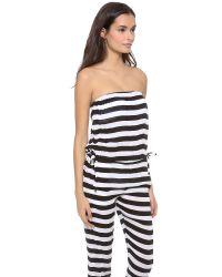 Mikoh Swimwear Black Jamaica Strapless Jumpsuit