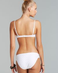 Nanette Lepore White Ooh La La Eyelet Coquette Bikini Top