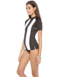 Pret-a-surf Black Short Sleeve Rash Guard Top