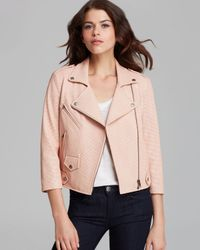 Rebecca Minkoff Brown Jacket Wes Moto Perforated Leather