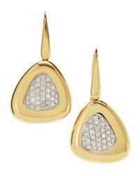 Roberto Coin | Metallic Wireback Diamond Triangle Earrings | Lyst