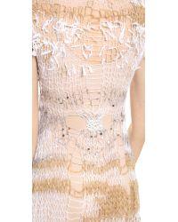 Rodarte Metallic Loose Knit Dress