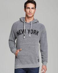 Sportiqe Gray Olsen New York Pullover Hoodie for men