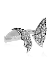 Stephen Webster - Metallic Diamond Butterfly White Gold Ring - Lyst