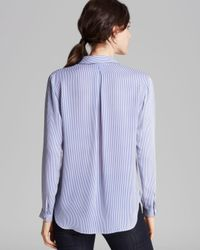 Theory Blue Button Up Top Aquilina B Conventional