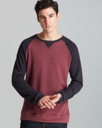 Threads For Thought Red Raglan Crew-neck Sweatshirt for men