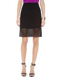 Tibi Black Lace Pencil Skirt