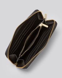 Tory Burch Brown Wallet Stacked T Zip Continental