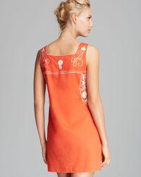 Tory Burch Orange Amira Cover Up Dress
