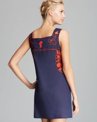 Tory Burch Blue Amira Cover Up Dress