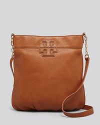 Tory Burch Brown Crossbody Stacked T Book Bag