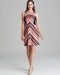 Trina Turk Multicolor Dress Upcoming Stripe Swing