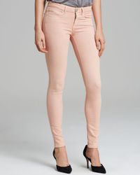 Vince Pink Jeans Riley Legging in Coral