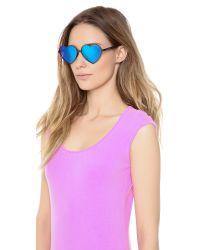 Wildfox Blue Lolita Deluxe Sunglasses