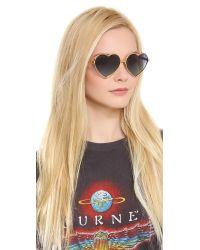 Wildfox Metallic Lolita Sunglasses