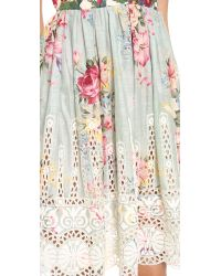 Zimmermann Gray Sundance Embroidered Cover Up Dress