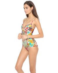 Zimmermann Multicolor Sundance Lattice One Piece Swimsuit
