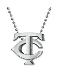 Alex Woo - Metallic Mlb Collection By Sterling Silver Minnesota Twins Pendant Necklace - Lyst