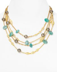 Alexis Bittar - Metallic Amazonite Multistrand Necklace 16 - Lyst