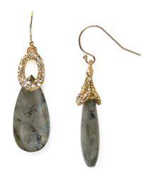 Alexis Bittar - Metallic Crystal Encrusted Cap Labradorite Earrings - Lyst