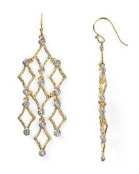Alexis Bittar - Metallic Crystal Stud Chandelier Earrings - Lyst