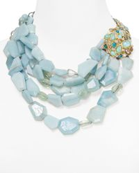 Alexis Bittar | Blue Kiwi Cluster Cascading Multistrand Necklace 19 | Lyst