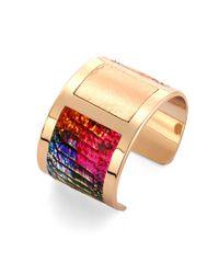 Aspinal - Multicolor Gold Roma Bangle - Lyst