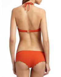 Chloé - Orange Scalloped Edge Bikini Swimsuit - Lyst