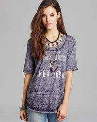 Free People Gray Tee Night Moves Of New York