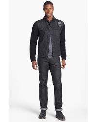 Insight | Black Revival Denim Jacket with Knit Sleeves for Men | Lyst