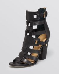 Ivanka Trump Black Sandals Gladiator High Heel