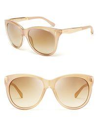 Jimmy Choo Metallic Ally Oversized Mirror Round Sunglasses