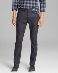 John Varvatos Gray Usa Jeans Bowery Slim Straight Fit in Metal Grey for men