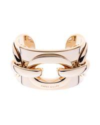 Karen Millen | Metallic Gold Acrylic Chain Cuff | Lyst
