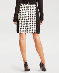 Kenneth Cole Black Justina Houndstooth Skirt