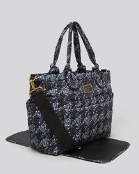 Marc By Marc Jacobs Blue Baby Bag Pretty Nylon Jacquard Elizababy