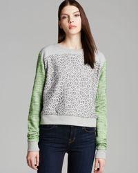 Rebecca Minkoff Gray Mccall Tweed Sleeve Sweatshirt