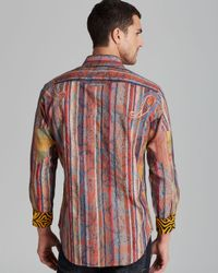 Robert Graham Red Zircon Limited Edition Stripe Sport Shirt Classic Fit for men