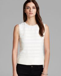Theory White Gaian Pryor Leather Top