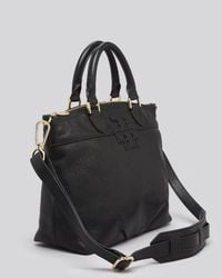 Tory Burch Black Satchel Stacked T Small