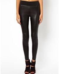 ASOS Black Exclusive High Waist Leather Look Leggings