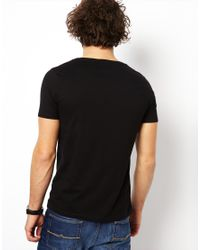 ASOS | Black T-shirt With Scoop Neck for Men | Lyst