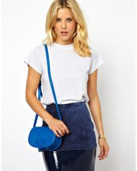 ASOS Blue Saddle Bag Across Body