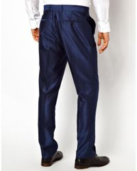 ASOS - Slim Fit Suit Trousers In Bright Blue for Men - Lyst