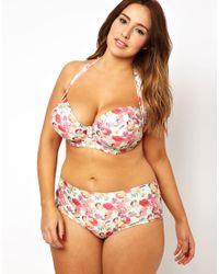 ASOS Multicolor Bikini Pant In 50'S Floral Print